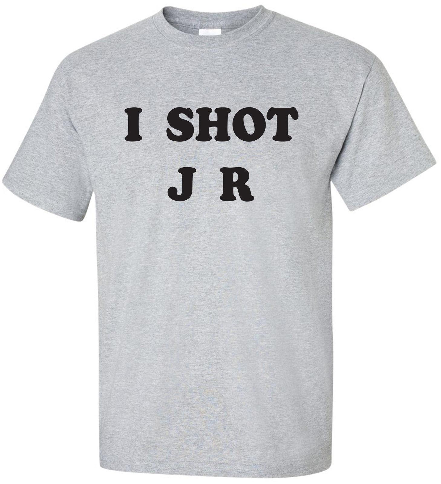 Я выстрелил J R отец TED серый с коротким рукавом Экипаж шеи хлопок Футболка