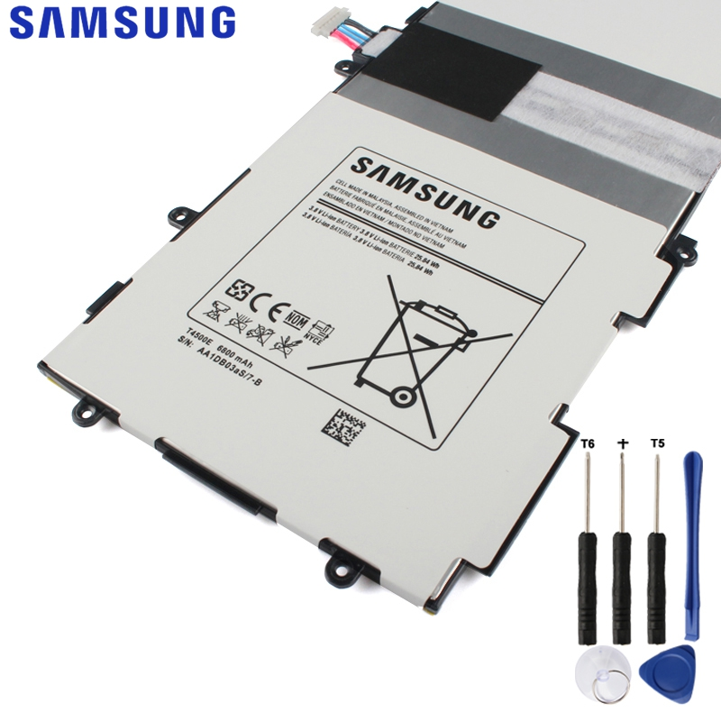 Original Replacement Samsung Battery For SAMSUNG Galaxy Tab3 P5200 P5220 P5210 Genuine Tablet Battery T4500E 6800mAh
