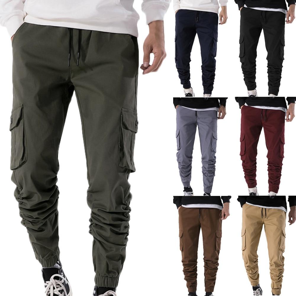 2018 Männer Der Herbst Streetwear Gewinner Reine Farbe Jogger Hosen Hosen Pantalon Homme Streetwear Jogginghose Fracht Sport Hosen # C Duftendes (In) Aroma