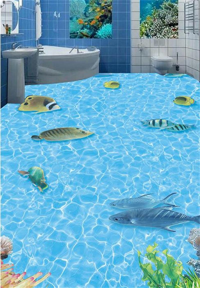 Popular Ocean Floor Bathroom Floor WallpaperBuy Cheap Ocean Floor - Ocean floor painting