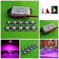 10pcs 3w full spectrum led 380-840nm +1pcs 6-10x3w 600mA led driver diy 30w led grow light for plants lamp