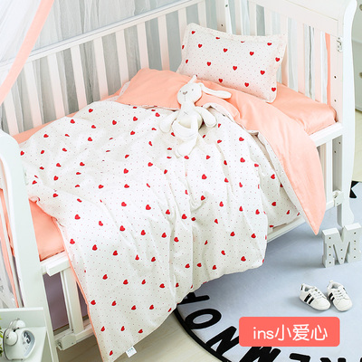 Good Quality Baby Bedding Set For Crib Newborn Baby Bed Linens For Girl Boy Detachable,Duvet/Sheet/Pillow, With Filling