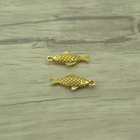 30pcs/lot Fashion Antique gold Alloy fish Charms Fit Pendants & Necklace Jewelry Findings DIY Handcraft 20*9mm 4229C