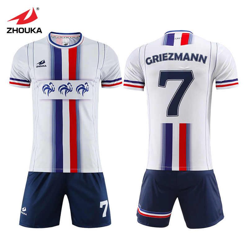 0fe278480 Wholesale Sublimation Printing Custom Futbol Club Team Uniform Football  Shirt Tops Suit Spain Jerseys Soccer Kit