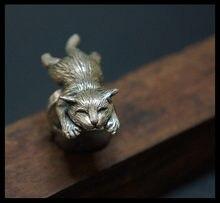 Оптовая продажа регулируемое кольцо в стиле ретро с котом модные