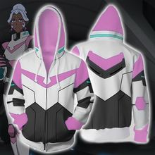 Voltron Legendary Defender Lance hoodie jacket cosplay Princess Allura Costumes 3D Printing zipper Sweatshirts Hooded sweater