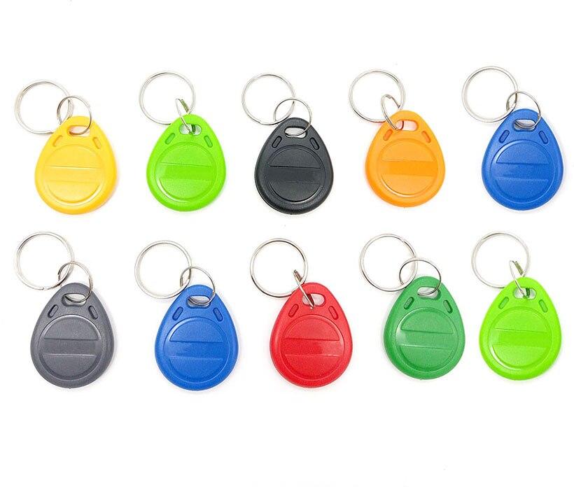 10pcs  T5577 EM4305 Rewritable Writable Rewrite Keyfobs Duplicate RFID Tag Copy 125KHz card Proximity Token Key Ring(China)