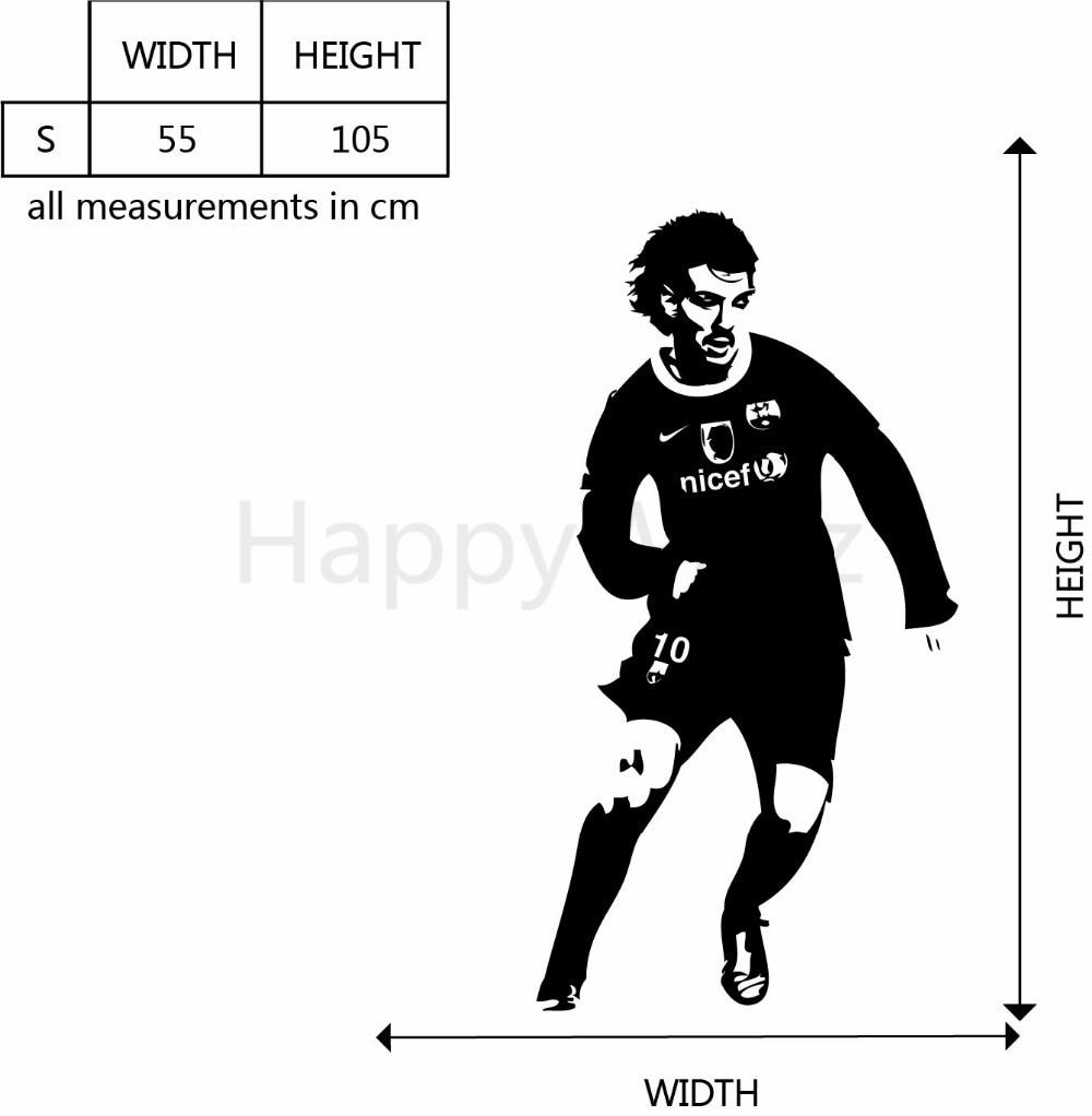 Fotballspiller Veggklistremerke Fotball Veggoverføringsbilde 55x105 - Hjemmedekorasjon - Bilde 5