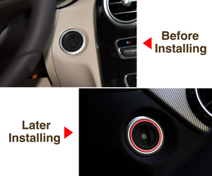 Image 4 - VCiiC Aluminum Engine Start Car Ignition Switch Cover Ring For Mercedes Benz AMG A/ B/ C/ GLK/  ML/ GL/ CLA / GLA / CLS  Series