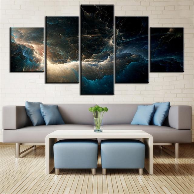 Gut PAINTING Gerahmte Leinwand Gemälde Wandkunst 5 Stück Wunderschöne  Traumhafte Veilchen Blumen Poster Abstrakte Bilder Wohnzimmer Home  Hervorragend Coole ...