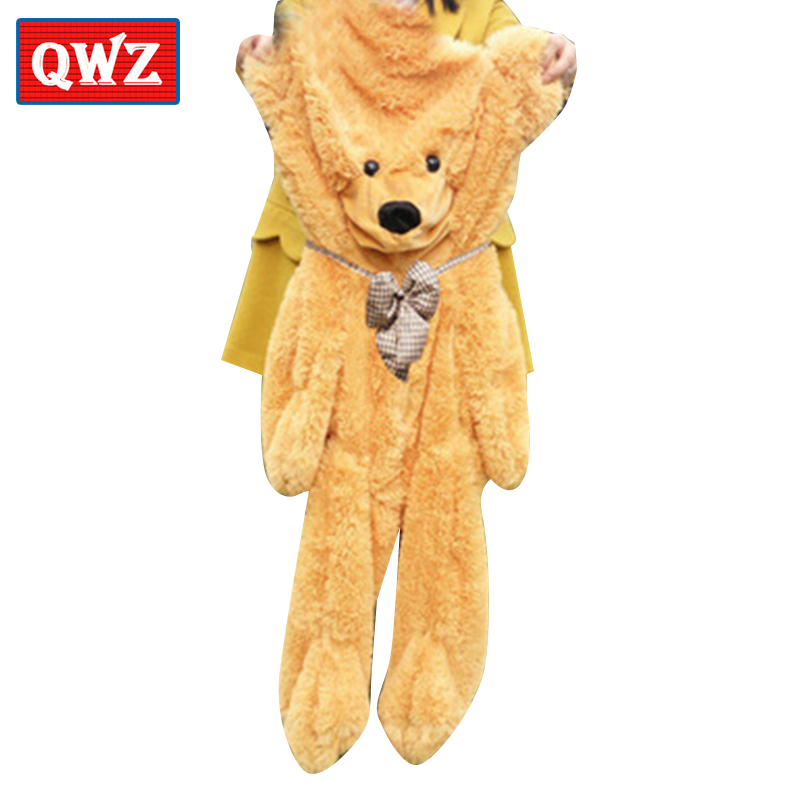 QWZ 200cm Cute Teddy Bear Skin Toy Plush Bearskin Giant Teddy Bear Coat Plush Toy Girlfriend Birthday Christmas Gift factory price 160cm teddy bear coat empty toy skin plush giant bear toy