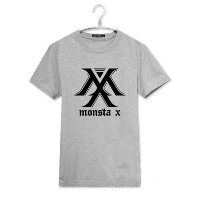 2017 new Monsta X Camiseta EL CLAN Album KPOP Camiseta de la Camiseta Unisex I.M Shownu Jooheon Nuevo