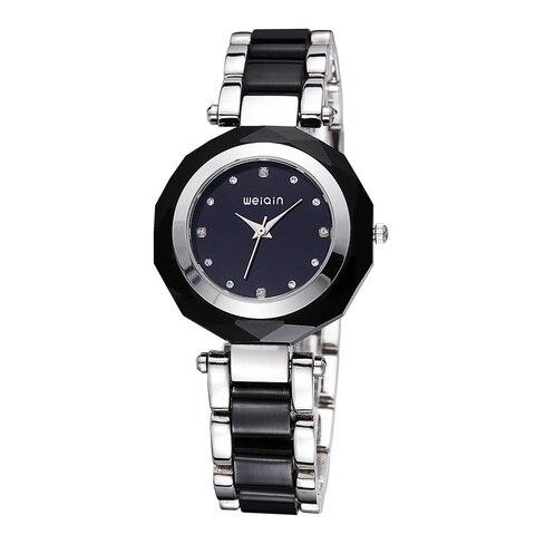 Pulseira de Relógio de Diamantes de Luxo à Prova Relógio de Quartzo Nova Moda Senhoras Strass Cristal Elegante d' Água Relógio Feminino 2019