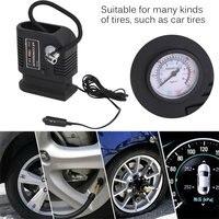 8pcs Portable 12V Car Air Compressor Pump Tire And 3 Adapter Electric Tyre Inflator