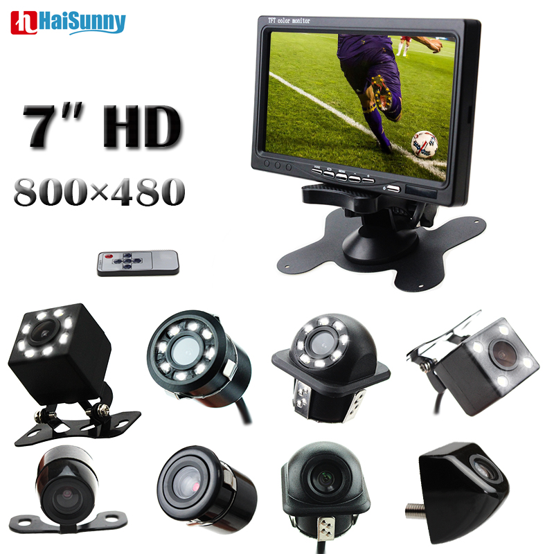HaiSunny HD 7 Inch LCD Color Display Screen Car Rear View DVD VCR Monitor With LED
