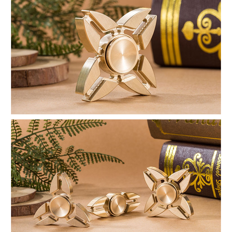 Hot Selling EDC Toys Triangular Hand Spinner orqbar brass Metal Professional Fidget Spinner Autism and ADHD