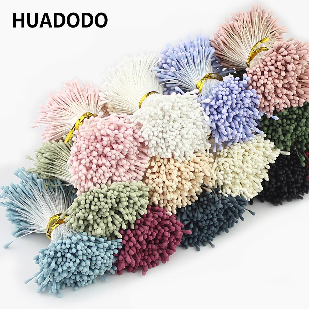 HUADODO 1,5 мм 400 шт. искусственная тычинка ручной искусственные цветы для Свадебная вечеринка украшения дома DIY Аксессуары