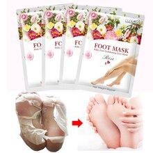 efero 1pair Baby Foot Peeling Mask Skin Renewal Treatment Exfoliating Remove Dead Feet Socks For Pedicure