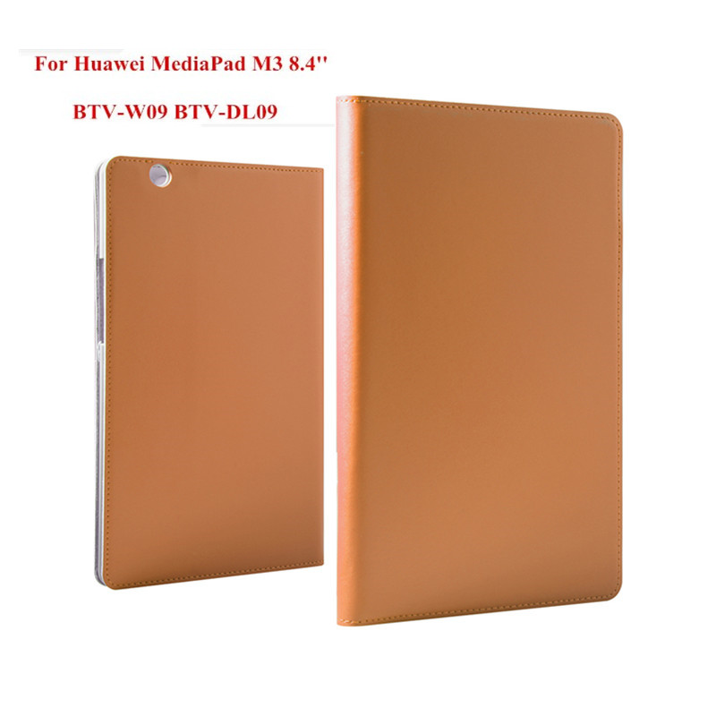 Ultra Thin Flip Genuine Leather With Plasic Back Case for Huawei Mediapad M3 8.4 inch BTV-W09 BTV-DL09 Tablet PC Stand Cover cover case for huawei mediapad m3 youth lite 8 cpn w09 cpn al00 8 tablet protective cover skin free stylus free film