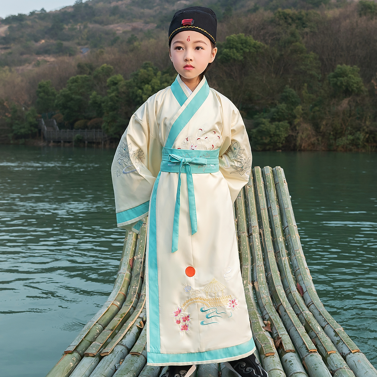 Boys Ancient Costume Hanfu Robe For Children Chinese Traditional Costume Tang Dynasty Student Dress Stage Performance Outfit