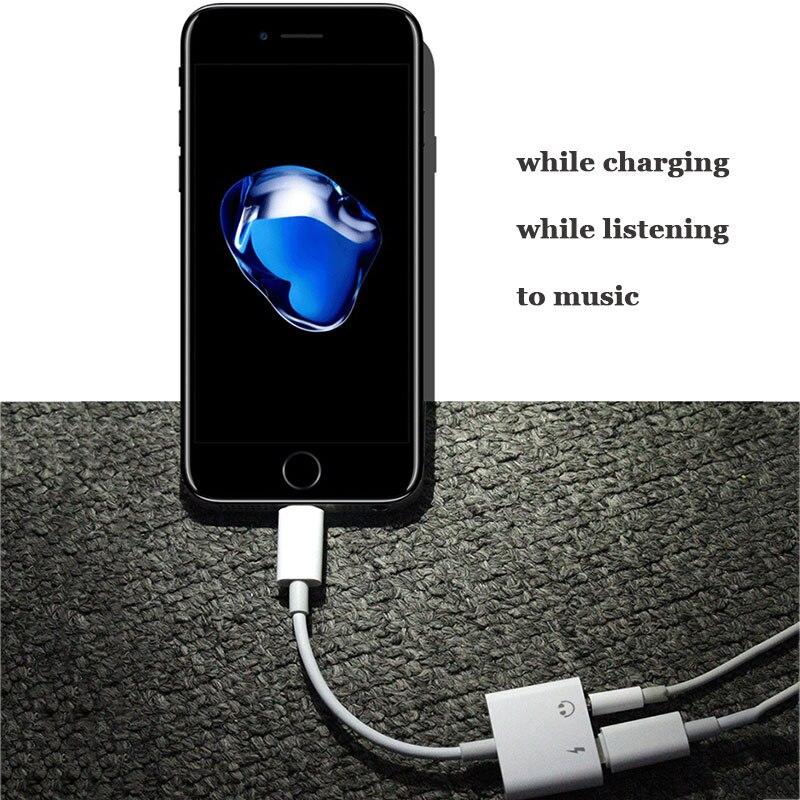 Charge rapide 2 dans 1 Adaptateur pour iPhone 7 Nouveau Adaptateur pour iPhone 8 7 Plus 10 X Chargeur Splitter Casque Adaptateur