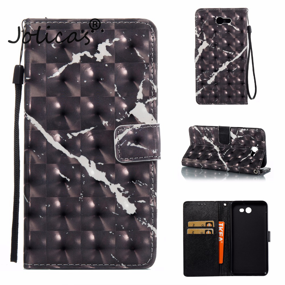 Wallet Case sFor coque Galaxy J7 2017 US Version Case Marble Vein For fundas Samsung J7 2017 US Version Etui Telefoon Hoesjes