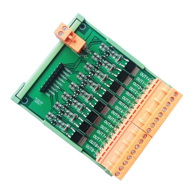 Eight-way mos tube FET / PWM regulation power / amplification driver module DC3.3/5/12/24 V free shipping 1000pcs n channel fet si2300 2300 3 6a 30v sot23 mos tube