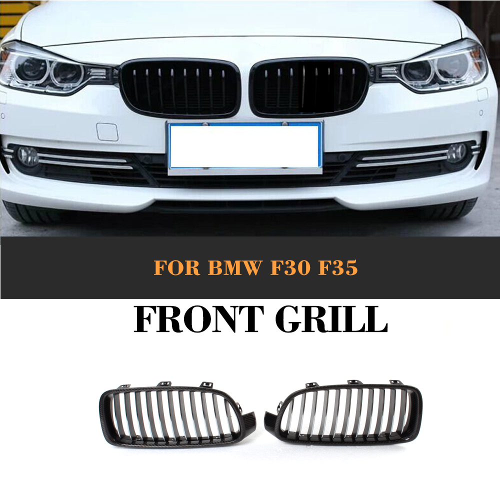 3 Series Carbon Front Bumper Racing Grill Grills for BMW F30 F31 Standard Sport 12-16 320i 325i 330i 340i Non M3 Style Car Cover 10th front bumper grill abs material middle grille racing grills type r grill mesh case for honda civici 2016 2017