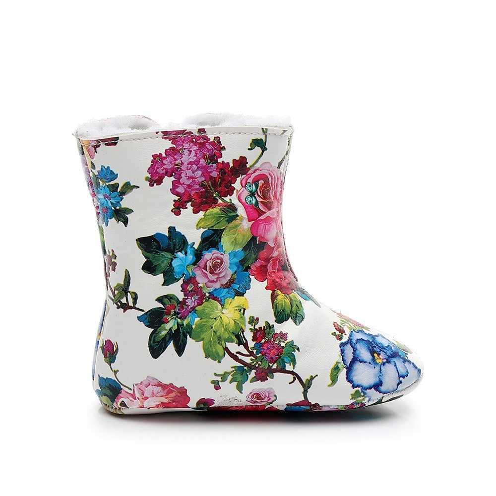 ฤดูหนาวของแท้หนังหิมะรองเท้าผ้าขนสัตว์สำหรับทารกแรกเกิด warm รองเท้าเด็กทารกรองเท้าเด็กวัยหัดเดิน soft sole First Walkers รองเท้าบู๊ต # QJ