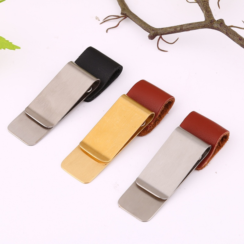 Outdoor Tools Metal brass pen clip holder for genuine leather traveler notebook spiral loose accessory memo clip tools ST