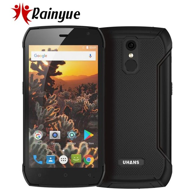 "UHANS K5000 IP68 Waterproof 4G Rugged Mobile Phone 5000mA 3GB+32GB 5.0"" MT6753 Octa-Core 13MP Fingeprint Android 7.0 Smartphone"