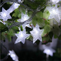 2016 Hot selling  Warm White LED Fairy Lights 20 Star String Decoration Light for Festival Halloween Christmas Party Wedding