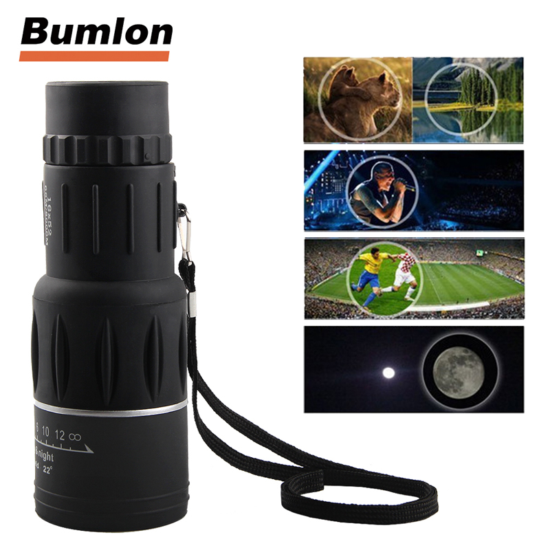 16X52 HD Monocular Telescope Dual Focusing Adjustment Binocular Spotting Scope for Hunting Watching Bird HT38-0007