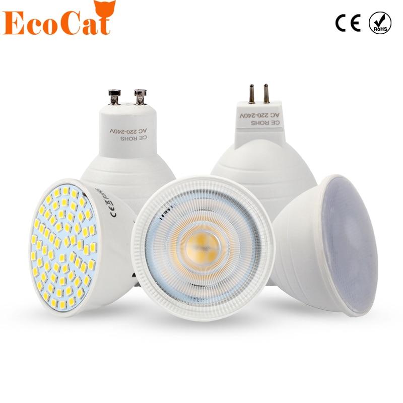 ECO Cat LED Bulb Spotlight GU10 MR16 6W 220V COB Chip Beam Angle 120 2W 4W Spotlight LED Lamp For Downlight Table Lamp