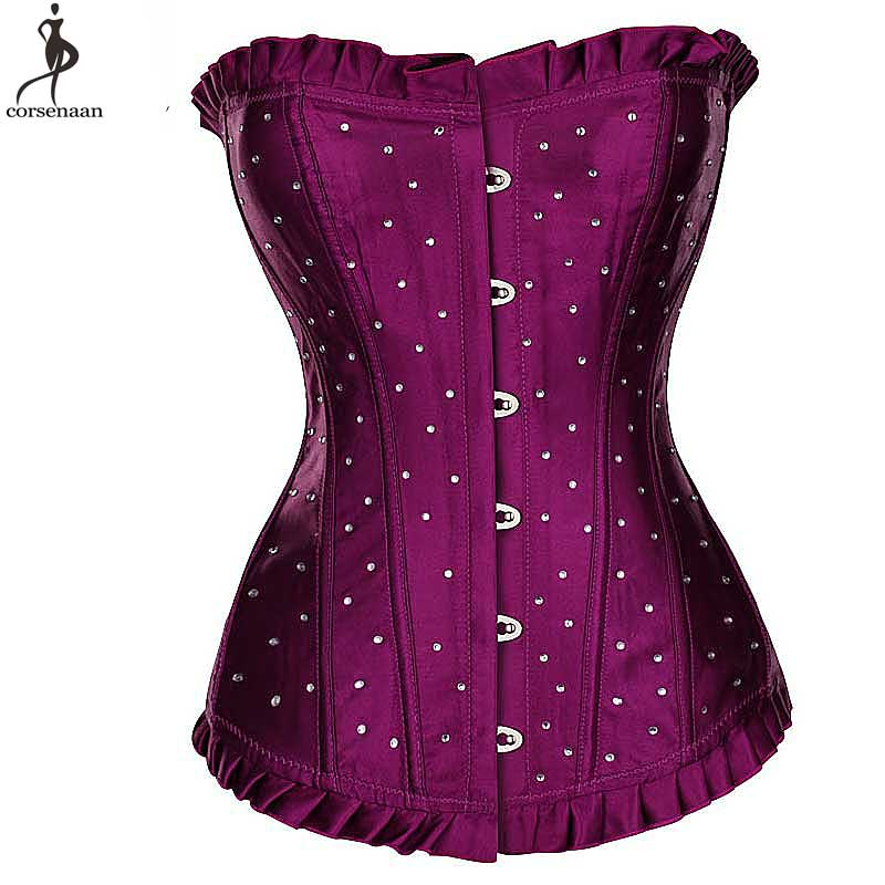 Satin Corset Wholesale Cheap Price Bustier Droshipping Overbust Korsett For Women Plus Size Gothic Gorset Lace Up Korset Outwear