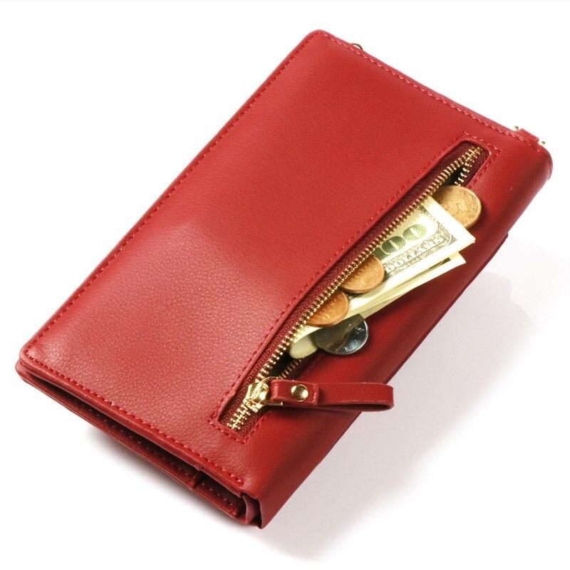Pearl Angeli Luxury Wallet Kvinnliga Leaf Hasp Coin Handväska - Plånböcker - Foto 3