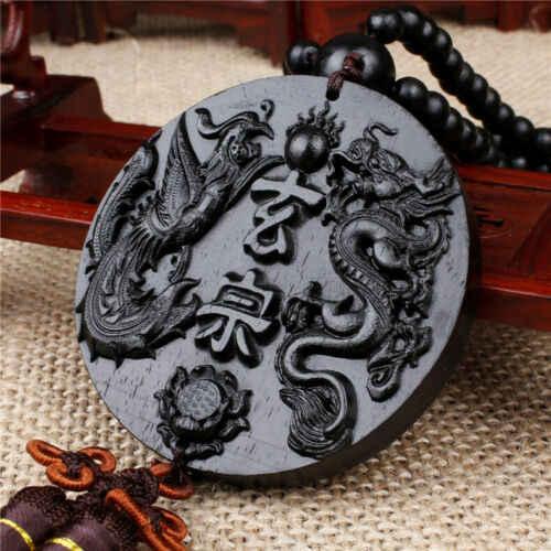 1pc Wood Carving Car Pendant Dragon Pendant Chinese Style Pendant
