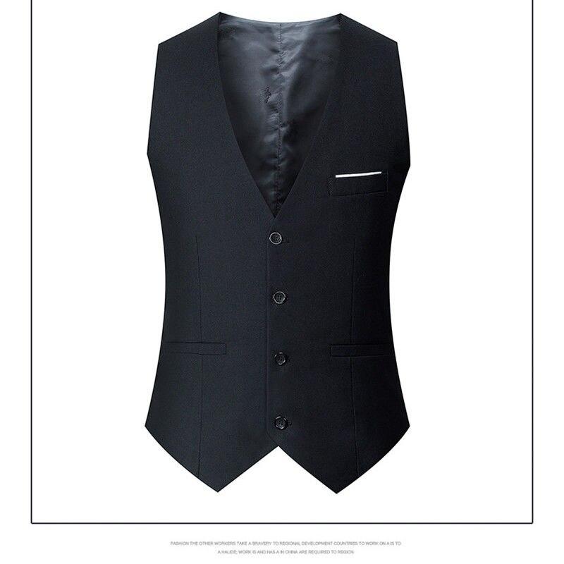 Men's Vest, Korean Version, Fashion Suit Thin Style, Small Trim, British Dress, Spring And Autumn Casual Work Clothes Men's Coat