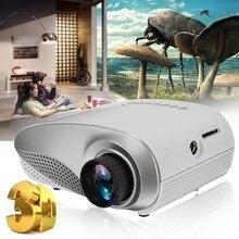 Мини-проектор Full HD Портативный 1080P 3D HD светодиодный мультимедийный домашний кинотеатр USB VGA HDMI tv система домашнего кинотеатра