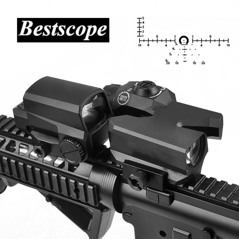 L Marke D-EVO Dual-Verbesserte Ansicht Optic Absehen Zielfernrohr Lupe mit LCO Red Dot Sight Reflex Anblick Gewehr sehenswürdigkeiten