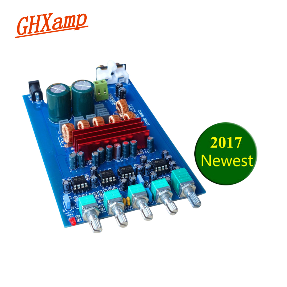 GHXAMP TPA3116 2.1 Subwoofer Amplifier Board Car Digital Audio Amplifier 2X50W + 100W TPA3116D2 Home Bass For Subwoofer Speaker car car audio amplifier board 12v 24v 220v audio gun core speaker board 8 inch 10 inch 6 inch bag