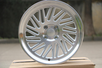 Staggered style 16x.7.0/8.0 ET30/25 4x100 Silver Machined Face alloy wheel rims W023