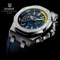 DIDUN diver часы мужские Топ люксовый бренд кварцевые часы мужские военные хронограф часы ударопрочный 50 м водонепроницаемые наручные часы
