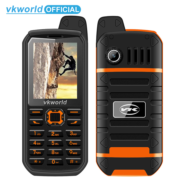 Vkworld V3 Plus 3000mAh Long Standby Mobile Phone 2.4inch IP54 Waterproof Dustproof Cellphone Dual Sim GSM FM Radio Mobile Phone