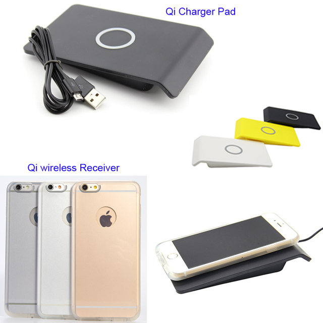 """Qi Wireless Charger Pad + Charging Receiver Back Case Cover Charging Kit For iPhone 6 6S 4.7"""""""