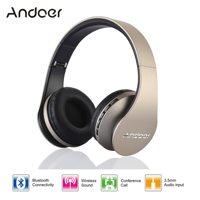 Digital 4 in 1 Andoer LH-811 Stereo Wireless Bluetooth 3.0 + EDR Headphone Headset & Wired Earphone with Mic MicroSD/TF FM Radi