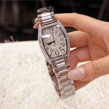 2019 נשים שעונים אישה יוקרה מותג קריסטל אופנה פלדה שעונים שעון קוורץ גבירותיי יד שעונים עבור נשים Relogio Feminino