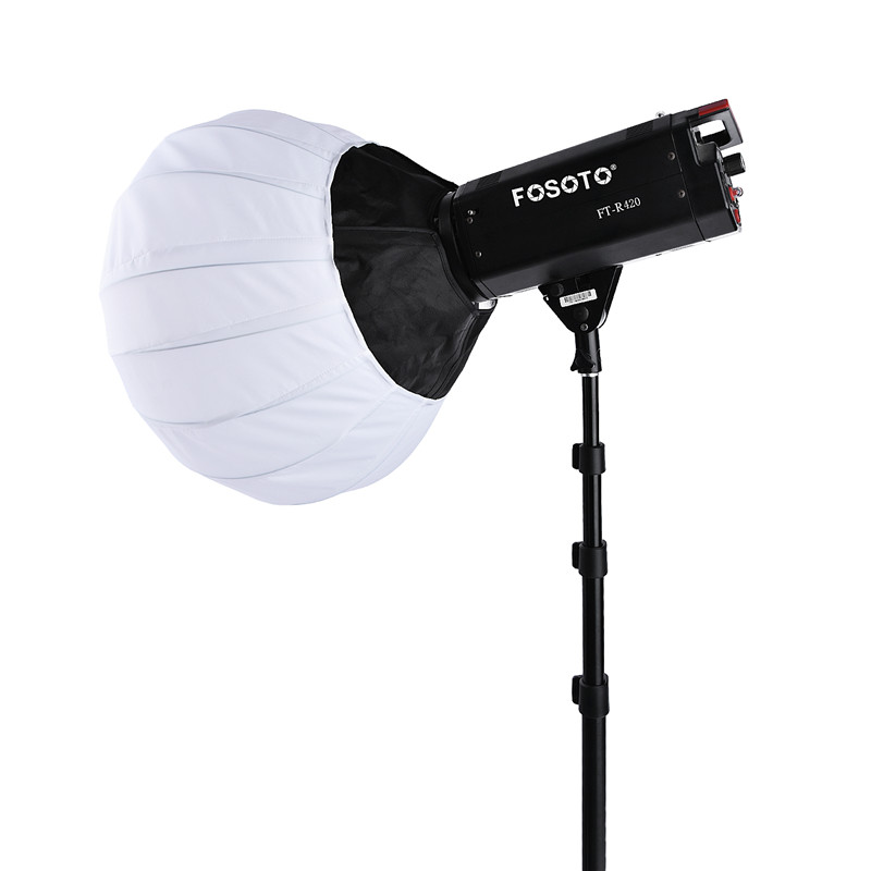 fosoto 47.5 cm Collapsible Sphere Softbox Paper Lantern Ball Shape Globe Diffuser Bowens Mount for Photo Studio Flash Strobefor