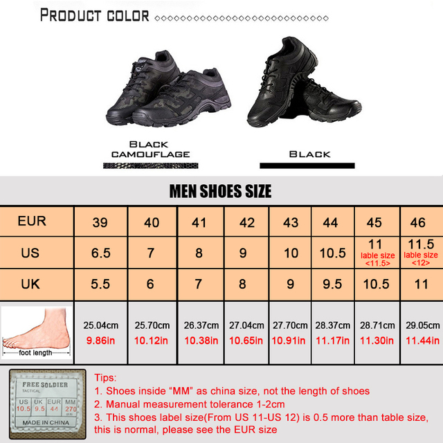 FREE SOLDIER Outdoor Sports Hiking Camping Tactical Shoes ,Shoe Men For Walking Climbing ,Boots For Men