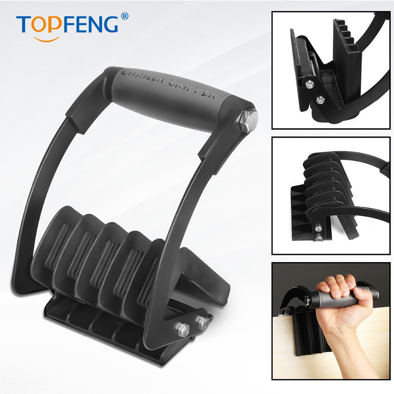 TopFeng Panel Carrier Gripper Heavy Duty Metal Gripper Sheet Goods Carry Handle Easy Gripper Panel in Lifting Tools Accessories from Tools